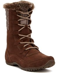 The North Face - Nuptse Purna Ii Faux Fur Waterproof Suede Boot - Lyst