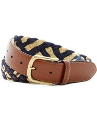 Tommy Bahama - Tidal Wave Braided & Leather Belt - Lyst
