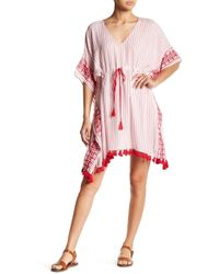 Velvet By Graham & Spencer - Janes Drawstring Kaftan Dress - Lyst