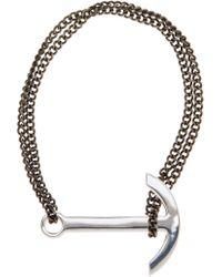 Miansai - Sterling Silver Modern Anchor Chain Bracelet - Lyst