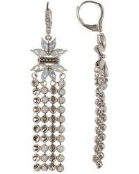 Jenny Packham - Iridescent Stone Drop Earrings - Lyst
