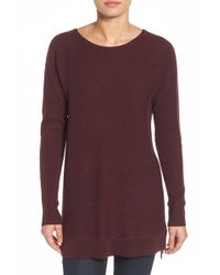 Halogen - High/low Wool & Cashmere Tunic Jumper (petite) - Lyst
