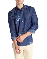 Parke & Ronen - Lightweight Denim Slim Fit Shirt - Lyst