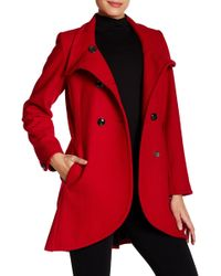 Cece by Cynthia Steffe - Gianna Double Breasted Wool Coat - Lyst
