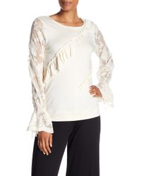 Kensie - Embroidered Lace Ruffle Panel Jumper - Lyst