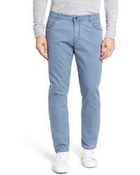 Brax - Chuck Flat Front Stretch Cotton Pants - Lyst