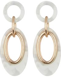 Vince Camuto - Resin Link Double Drop Earrings - Lyst