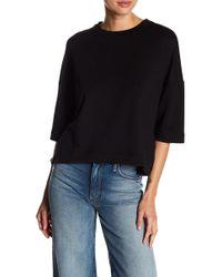 Heather by Bordeaux - Fleece Boxy Sweatshirt - Lyst
