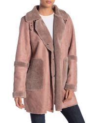 Lucky Brand - Faux Fur Trench Coat - Lyst