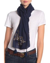 Tommy Bahama - Hibiscus Embroidered Scarf - Lyst