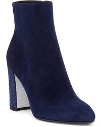 Rene Caovilla - Crystal Embellished Block Heel Bootie - Lyst