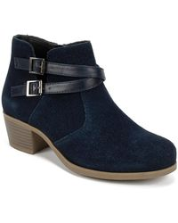 White Mountain Footwear - Tacy Suede Ankle Bootie - Lyst