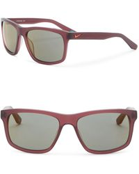 Nike - Flow R 58mm Square Sunglasses - Lyst