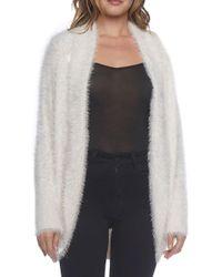 BB Dakota - Fuzzy Knit Open Face Cardigan - Lyst