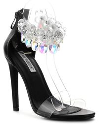 Tabitha simmons Chandelier Crystal Sandal in White   Lyst