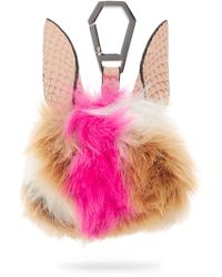 Kendall + Kylie - Bee Faux Fur & Leather Bag Charm - Lyst