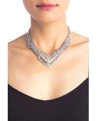 Givenchy - Layered Row Stone & Pearl Collar - Lyst