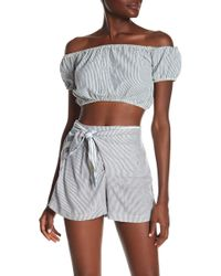 Angie - Striped Off-the-shoulder Top - Lyst