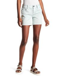 Miss Me - Embroidered Mid Rise Easy Shorts - Lyst