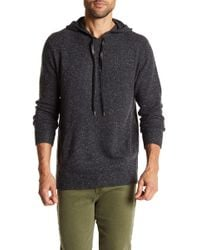 Autumn Cashmere - Leather Drawstring Cashmere Hoodie - Lyst