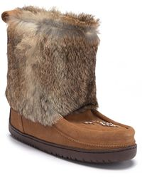Manitobah Mukluks - Nordic Genuine Rabbit Fur & Genuine Sheepskin Lined Boot - Lyst