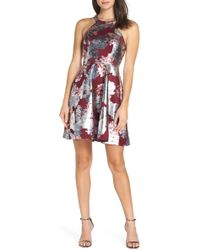 af38b425 Sequin Hearts Off-the-shoulder Fit-and-flare Dress in White - Lyst