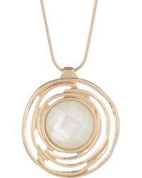 The Sak - Stone Halo Pendant Necklace - Lyst