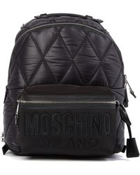 Moschino - Quilted Nylon Backpack - Lyst