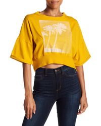 Free People - Surfs Up Cropped Graphic Tee - Lyst