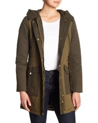 Guess - Hi-lo Quilted Jacket - Lyst