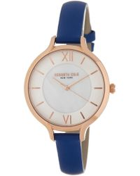 Kenneth Cole - Women's Classic Mother Of Pearl Leather Strap Watch, 34mm - Lyst