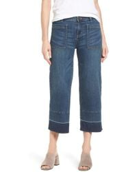Caslon - (r) Wide Leg Crop Jeans (chroma) (regular & Petite) - Lyst