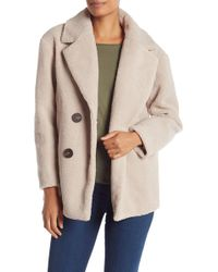 French Connection - Short Teddy Faux Fur Jacket - Lyst