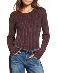 Treasure & Bond - Metallic Ribbed Jumper - Lyst