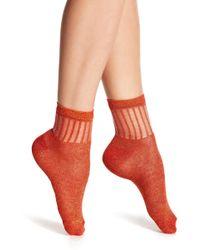 Free People - Roseland Metallic Ankle Socks - Lyst