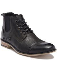 Steve Madden - Kleen Cap Toe Leather Boot - Lyst