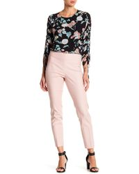 Vince Camuto - Double Weave Side Zip Skinny Trousers - Lyst