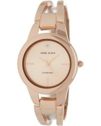 Anne Klein - Women's Round Case Rose-gold Bangle Watch, 32.6mm - Lyst