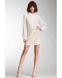 Blu Pepper - Studded Tweed Skirt - Lyst