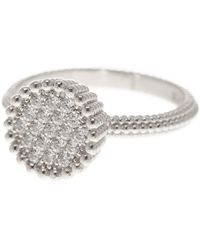 Liberty - Sterling Silver Italian Cz Pave Beaded Ring - Lyst