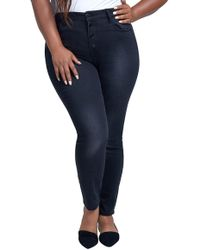 Seven7 - High Rise Jeggings (plus Size) - Lyst