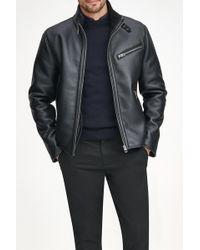 Andrew Marc - Flint Faux Leather Faux Shearling Lined Moto Jacket - Lyst