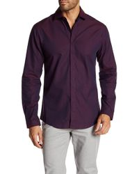 Vince Camuto - Long Sleeve Button Placket Front Shirt - Lyst