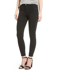 Tinsel - Studded Skinny Jeans - Lyst