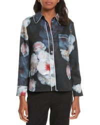 Ted Baker - Lanei Floral Piped Shirt - Lyst