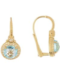 Judith Ripka - La Petite Round Stone Drop Earrings - Lyst
