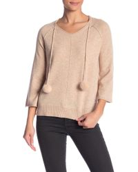 In Cashmere - Faux Fur Tassel Cashmere Sweater - Lyst