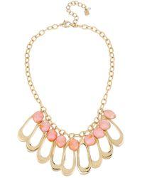 Robert Lee Morris - Oval Link & Orange Shell Bib Necklace - Lyst
