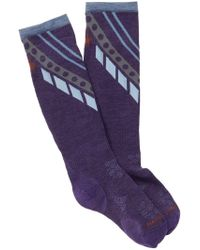 Smartwool - Phd Ski Ultra Light Pattern Knee High Mountain Socks - Lyst