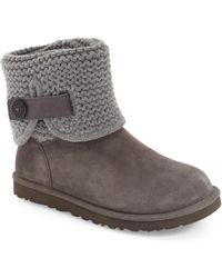 UGG - Shaina Knit Suede Boot - Lyst